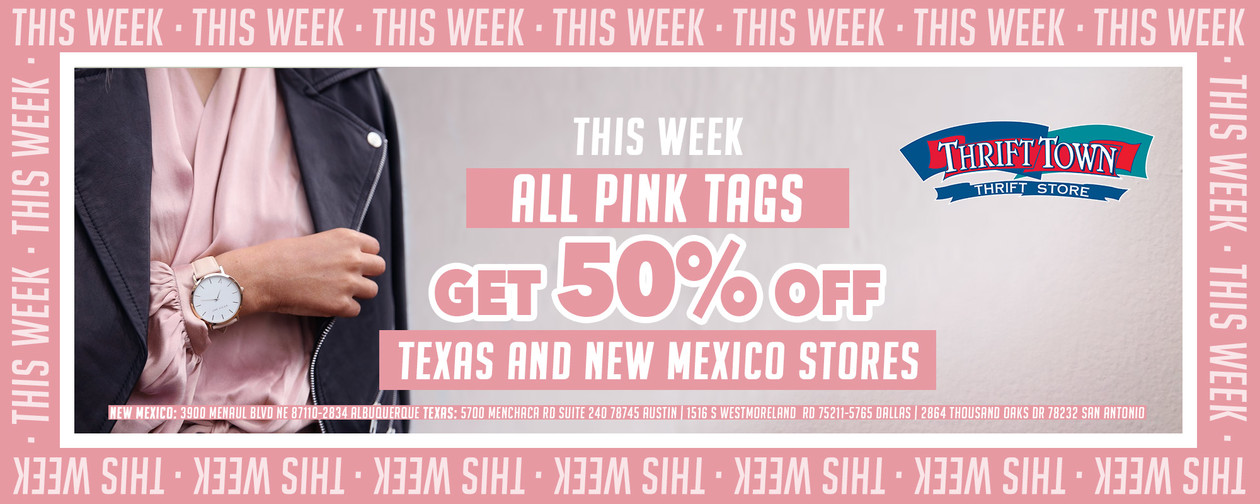 Tag of the week pink 50% off