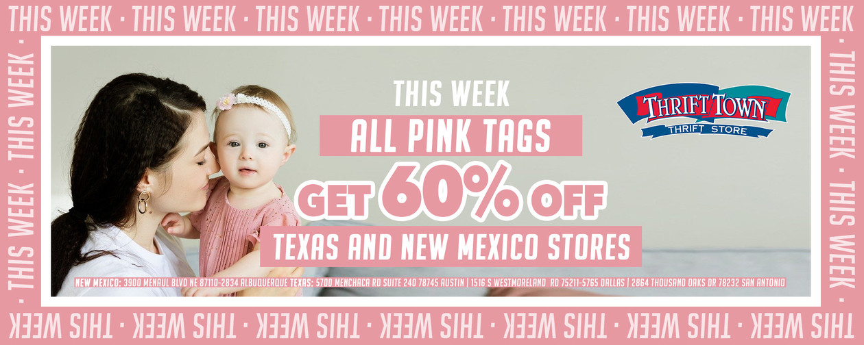 Tag of the week pink 60% off