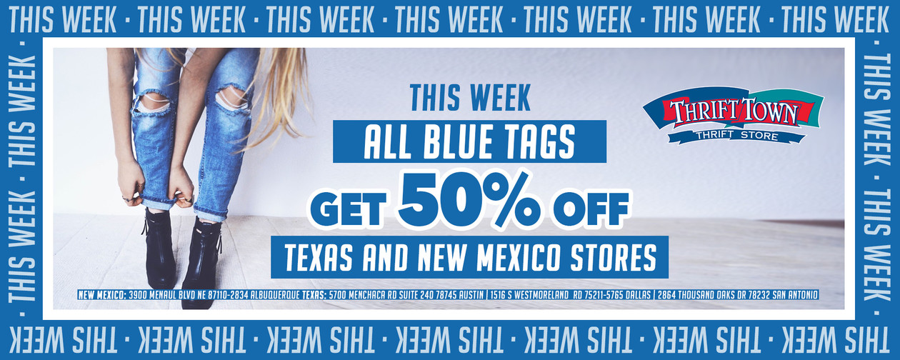 Tag of the week blue 50% off