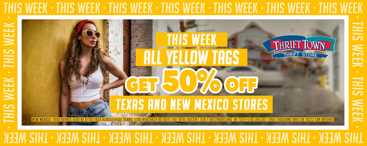 Yellow 50% off