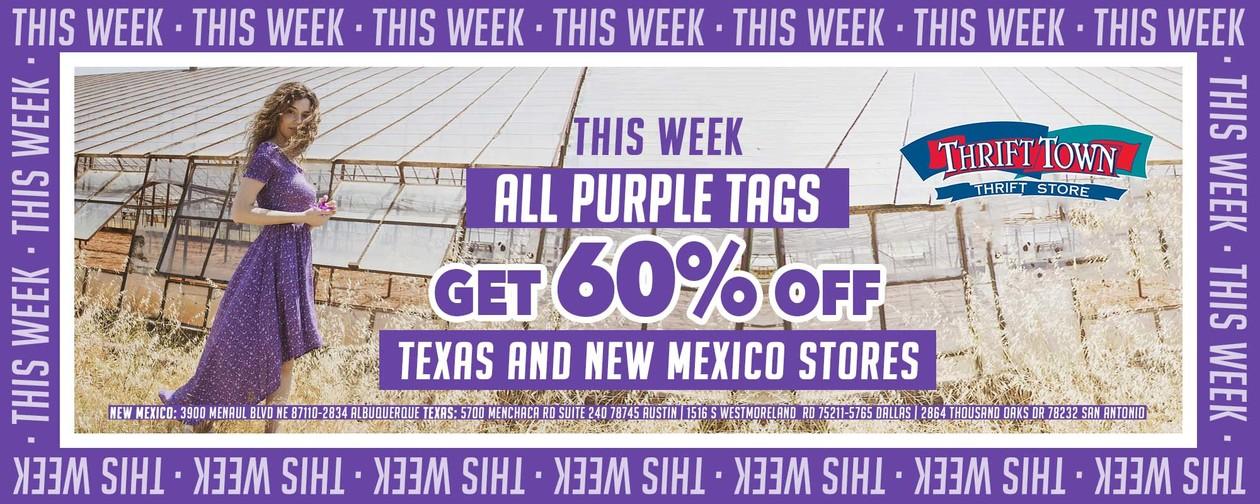 purple 60% off